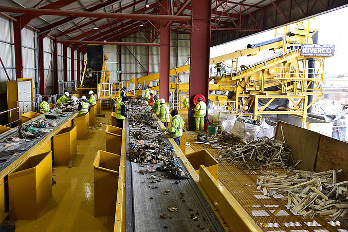 Kiverco Recycling Waste Trommels at Work